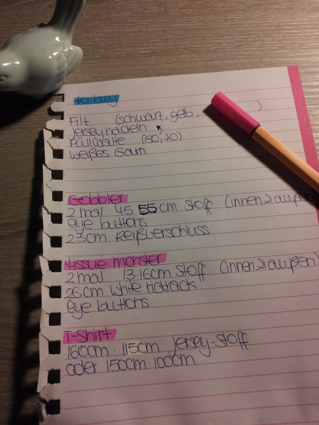 October 16th, 2013 - Shopping List