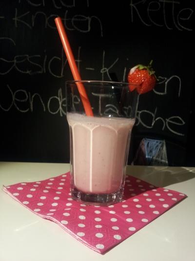 Leckerer Erdbeer-Smoothie