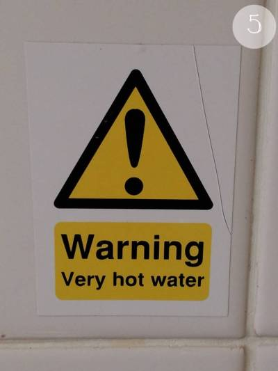 Yellow 5 - Very hot water