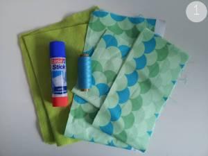 DIY Handytasche - Schritt 1