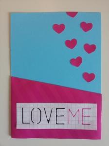 """DIY Post Card """"Love Me"""""""