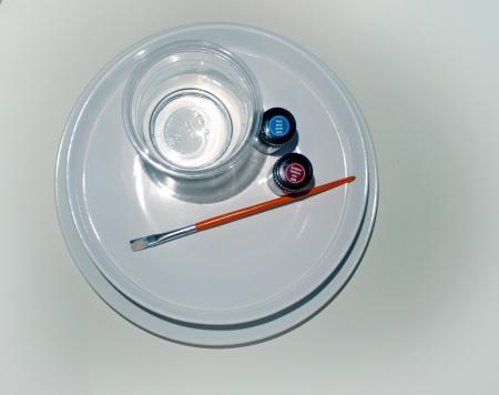 Tintenfleck-Teller Zutaten