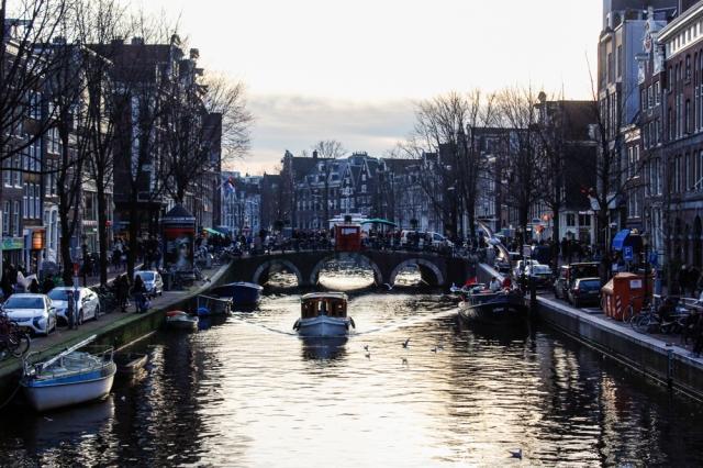 Amsterdam Dezember Gracht