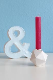 DIY geometrischer Kerzenständer aus Gips
