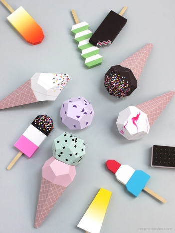 Ice Cream Printables by Mr Printables