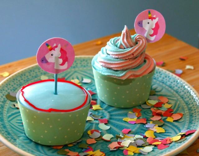 Einhorn-Cupcakes für die Radbag Blogparade